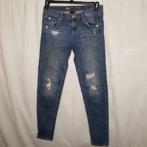 Mossimo distressed skinny boyfriend jeans